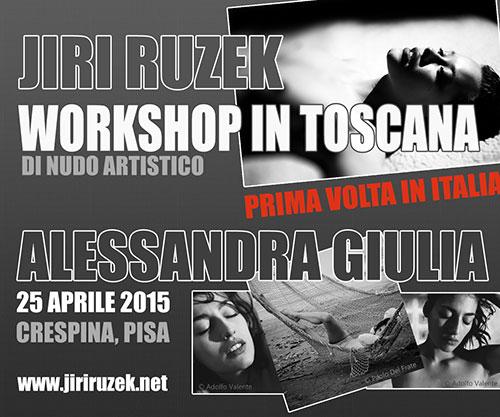 Workshop di nudo artistico Toscana con Jiri Ruzek