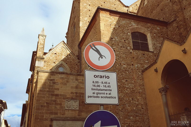 Art Traffic Signs in Florence by Clet Abraham