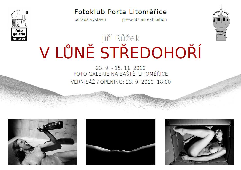 Pozvánka na výstavu Jiří Růžek - V LŮNĚ STŘEDOHOŘÍ