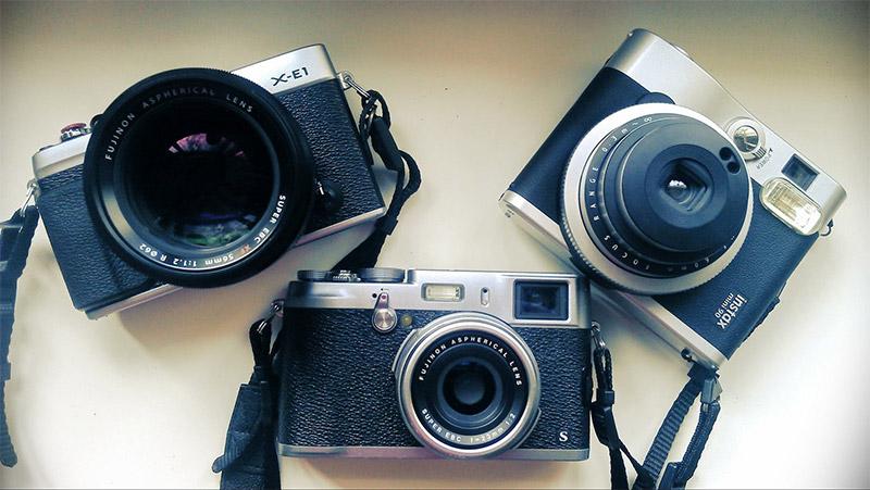 Fujifilm X-E1, X100S a Instax