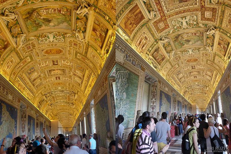 Vatikánská muzea - vlevo X100S, vpravo X-E1