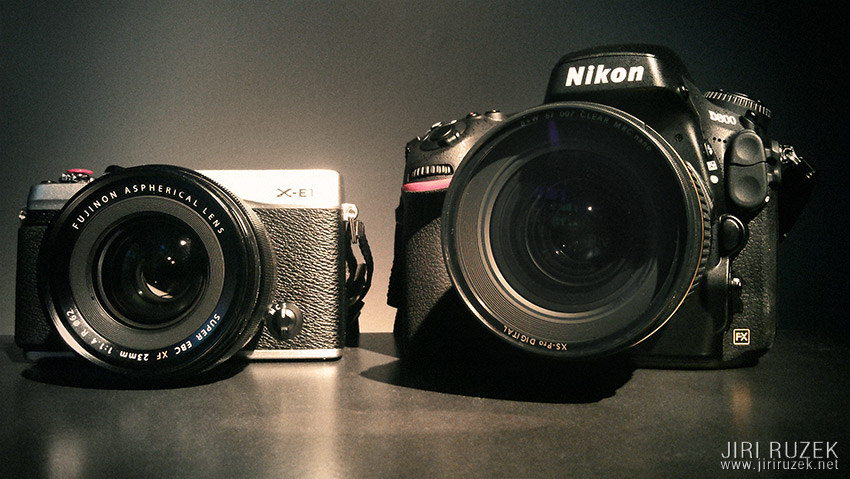 Fuji X-E1 vs. Nikon D800 - David and Goliath
