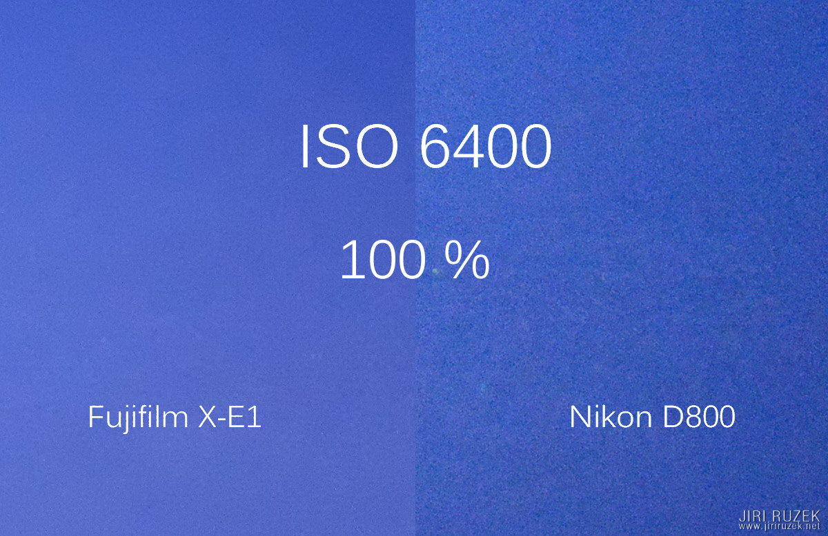 ISO 6400 - an incredible difference in favor of Fujifilm