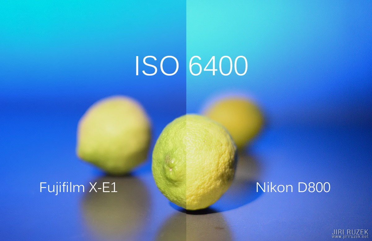 Image quality of both cameras at ISO 6400 and a reasonable size is stunning